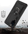 Black 360 Rotating Metal Ring Armor Stand Case for Galaxy S20 - 4