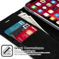 Black iPhone 11 Genuine Mercury Mansoor Diary Wallet Card Case - 2