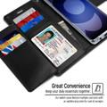 Black Galaxy S20 Genuine Mercury Rich Diary Card Slot Wallet Case - 4