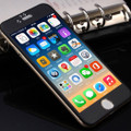 Black iPhone 6 / 6S Metal Frame Tempered Glass Screen - 2