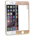 Gold iPhone 6 / 6S Metal Frame Tempered Glass Screen Guard - 1