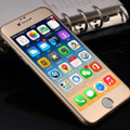 Gold iPhone 6 / 6S Metal Frame Tempered Glass Screen Guard - 5