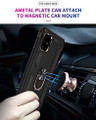 Black Galaxy A71 Slim Shock Proof 360 Rotating Metal Ring Stand Case - 2