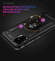 Black Galaxy A71 Slim Shock Proof 360 Rotating Metal Ring Stand Case - 4