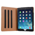 """Apple iPad Air 3 10.5"""" Black & Tan Leather Wallet Stand Case - 4"""