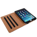 """Apple iPad Air 3 10.5"""" Black & Tan Leather Wallet Stand Case - 5"""