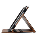 """Apple iPad Air 3 10.5"""" Black & Tan Leather Wallet Stand Case - 6"""