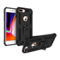 Black 360 Rotating Metal Ring Armor Stand Case for iPhone 8 Plus - 7