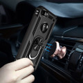 Black 360 Rotating Metal Ring Slim Armor Stand Case for iPhone 7 / 8 - 3