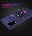 Navy Heavy Duty 360 Rotating Metal Ring Stand Case For Galaxy A51 - 3