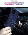 Navy Heavy Duty 360 Rotating Metal Ring Stand Case For Galaxy A51 - 4
