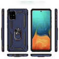 Navy Heavy Duty 360 Rotating Metal Ring Stand Case For Galaxy A51 - 5