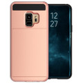 Rose Gold Samsung Galaxy S9+ Plus Slide Armor Card Holder Case - 2