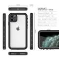 Black iPhone 11 Pro MAX Waterproof Dirtproof Shock Proof Case - 2