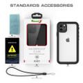 Black iPhone 11 Pro MAX Waterproof Dirtproof Shock Proof Case - 3
