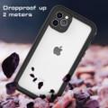 Black iPhone 11 Pro MAX Waterproof Dirtproof Shock Proof Case - 6