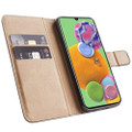 Black Genuine Leather Smart Wallet Case  For Samsung Galaxy A51 - 4