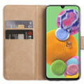 Black Genuine Leather Smart Wallet Case  For Samsung Galaxy A51 - 5