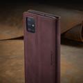 Classy Wine CaseMe Compact Flip Wallet Card Case For Galaxy A51 - 3