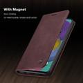 Classy Wine CaseMe Compact Flip Wallet Card Case For Galaxy A51 - 6