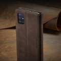 Coffee CaseMe Classy Compact Flip Wallet Card Case For Galaxy A51 - 4