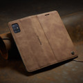 Brown Galaxy A71 CaseMe Compact Flip Classy Wallet Case - 2