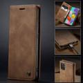 Brown Galaxy A71 CaseMe Compact Flip Classy Wallet Case - 6