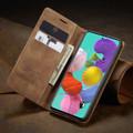 Brown Galaxy A71 CaseMe Compact Flip Classy Wallet Case - 1