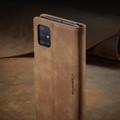 Brown Galaxy A71 CaseMe Compact Flip Classy Wallet Case - 9