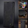 Black Galaxy A71 CaseMe Compact Flip Exceptional Wallet Case Cover - 3