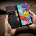 Black Galaxy A71 CaseMe Compact Flip Exceptional Wallet Case Cover - 1