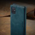 Blue Galaxy A71 CaseMe Compact Flip Soft Feel Wallet Case Cover - 4