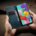 Blue Galaxy A71 CaseMe Compact Flip Soft Feel Wallet Case Cover - 1