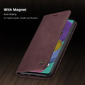 Classy Wine CaseMe Compact Flip Wallet Card Case For Galaxy A71 - 4