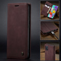 Classy Wine CaseMe Compact Flip Wallet Card Case For Galaxy A71 - 9