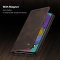 Coffee CaseMe Classy Compact Flip Wallet Card Case For Galaxy A71 - 3