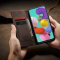 Coffee CaseMe Classy Compact Flip Wallet Card Case For Galaxy A71 - 4
