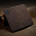 Coffee CaseMe Classy Compact Flip Wallet Card Case For Galaxy A71 - 5