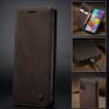 Coffee CaseMe Classy Compact Flip Wallet Card Case For Galaxy A71 - 6