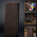 Coffee CaseMe Classy Compact Flip Wallet Card Case For Galaxy A71 - 6