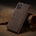 Coffee CaseMe Classy Compact Flip Wallet Card Case For Galaxy A71 - 8
