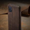 Coffee CaseMe Classy Compact Flip Wallet Card Case For Galaxy A71 - 9