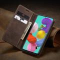 Coffee CaseMe Classy Compact Flip Wallet Card Case For Galaxy A71 - 1