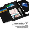 Premium iPhone SE 2020 Genuine Mercury Rich Diary Wallet Case - Black - 5