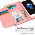 Stylish iPhone SE 2020 Genuine Mercury Rich Diary Wallet Case - Hot Pink - 5