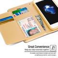 Stylish iPhone SE 2020 Genuine Mercury Rich Diary Wallet Case - Gold - 5