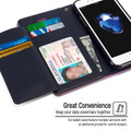 Stylish iPhone SE 2020 Genuine Mercury Rich Diary Wallet Case - Purple - 4