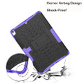 "Purple Shock Proof Kickstand Case Cover For Apple iPad Air 3 10.5"" - 4"