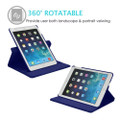 "Blue iPad Air 3 10.5"" 2019 360 Degree Rotating Synthetic Leather Case - 4"