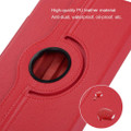 "Red 360 Degree Rotating Synthetic Leather Case For iPad Air 3 10.5"" 2019 - 4"